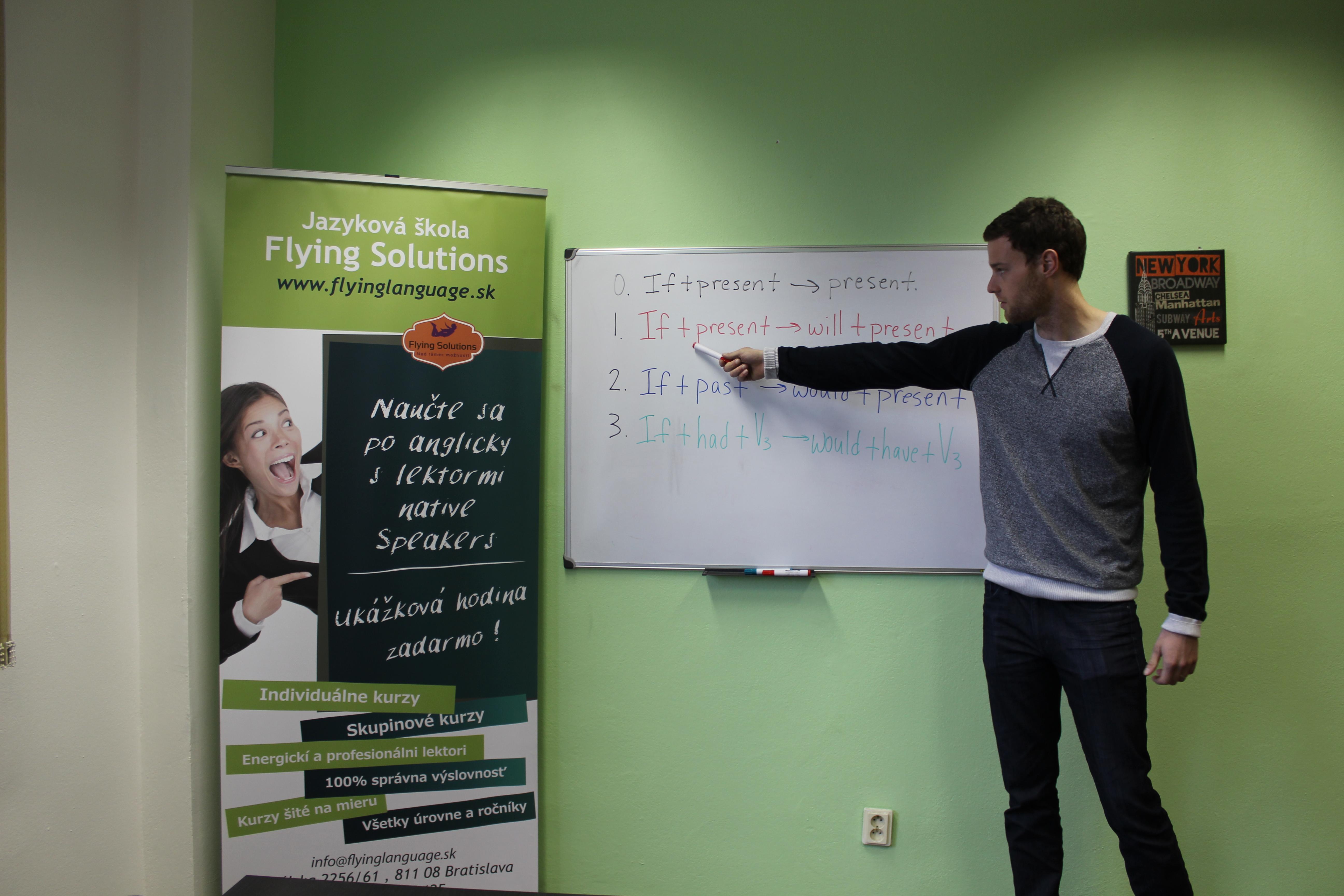 Jazyková škola Flying Solutions Bratislava lektor native speaker
