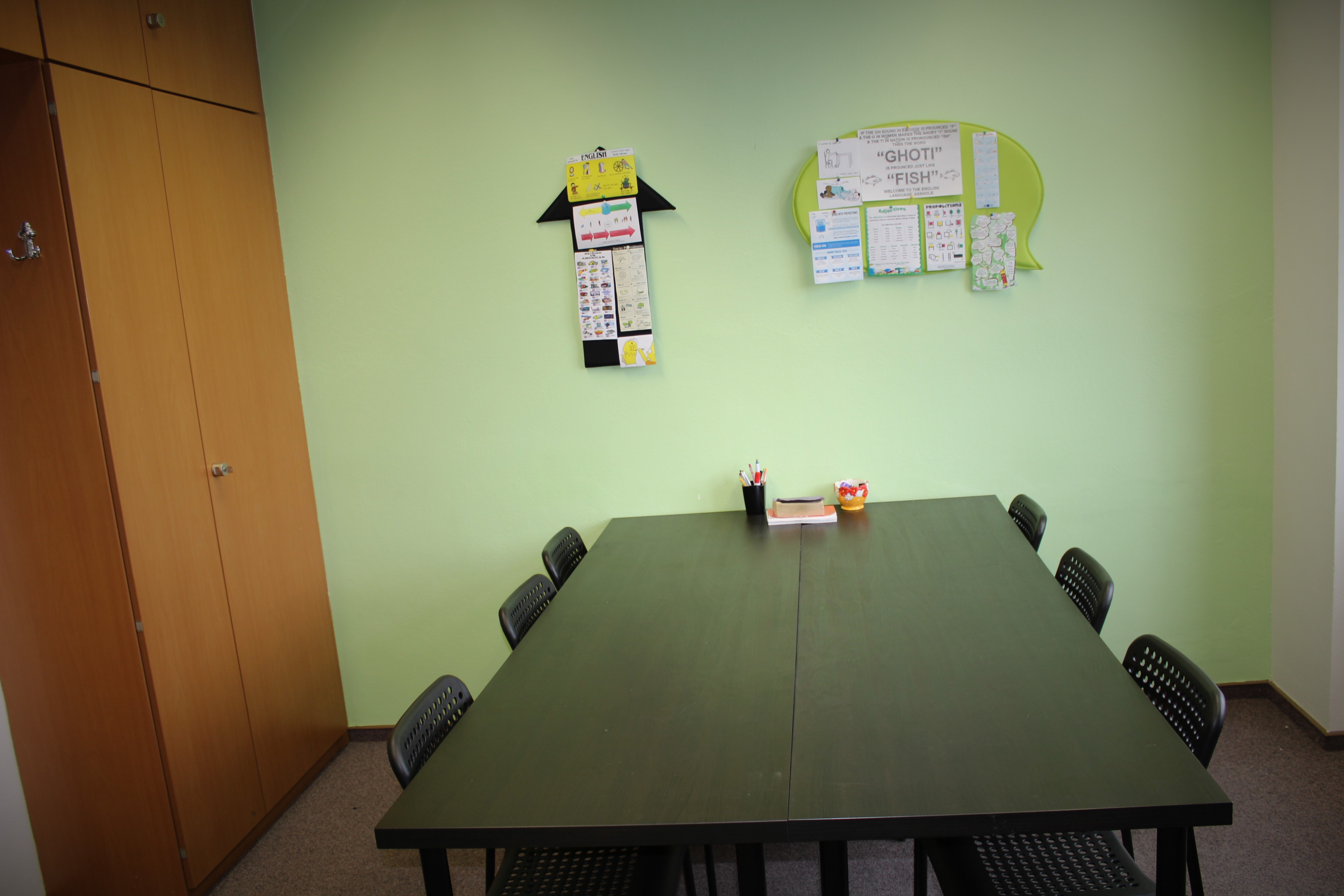 jazykova skola Flying Solutions Bratislava miestnost na vyucbu anglickeho jazyka Spitalska 2256/61